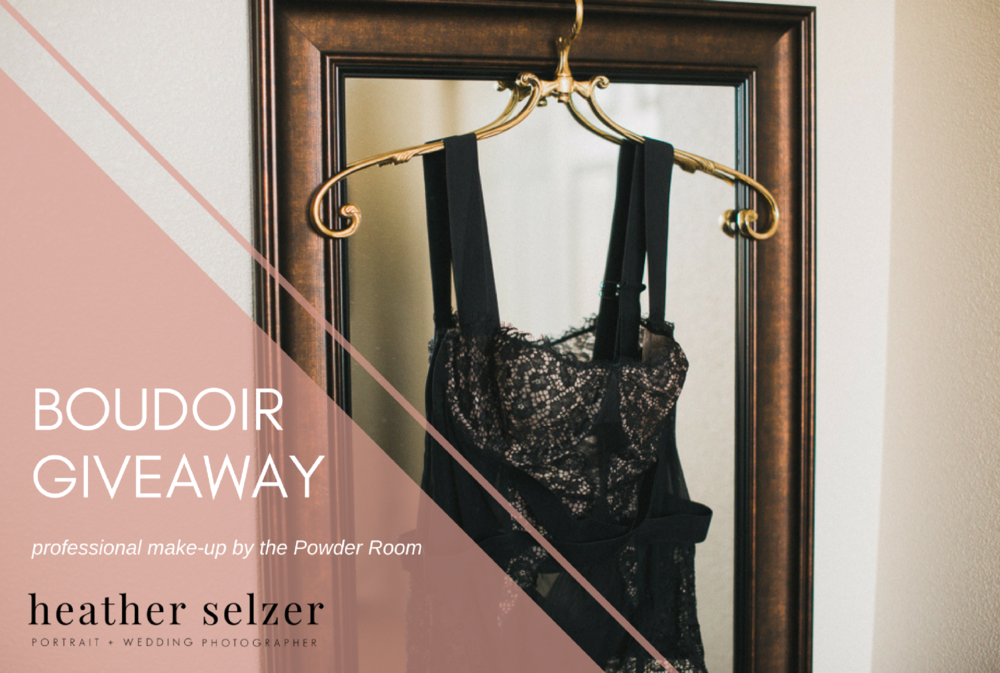 Boudoir giveaway with photo of lingerie