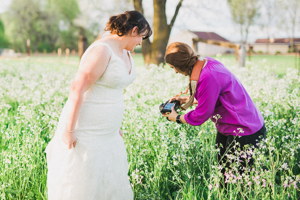 heather selzer showing bride photo - pc: tanya gallagher