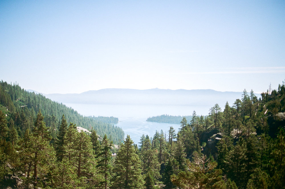 View of Emerald Bay from Eagle Lake Trail. July 2018 | Nikon F100 on Portra 400