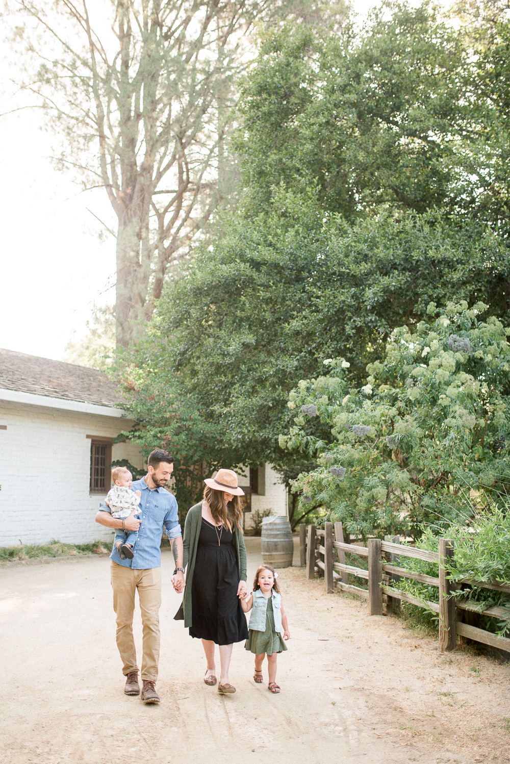Heather Selzer - Family walking through Sutter's Fort in Sacramento, CA