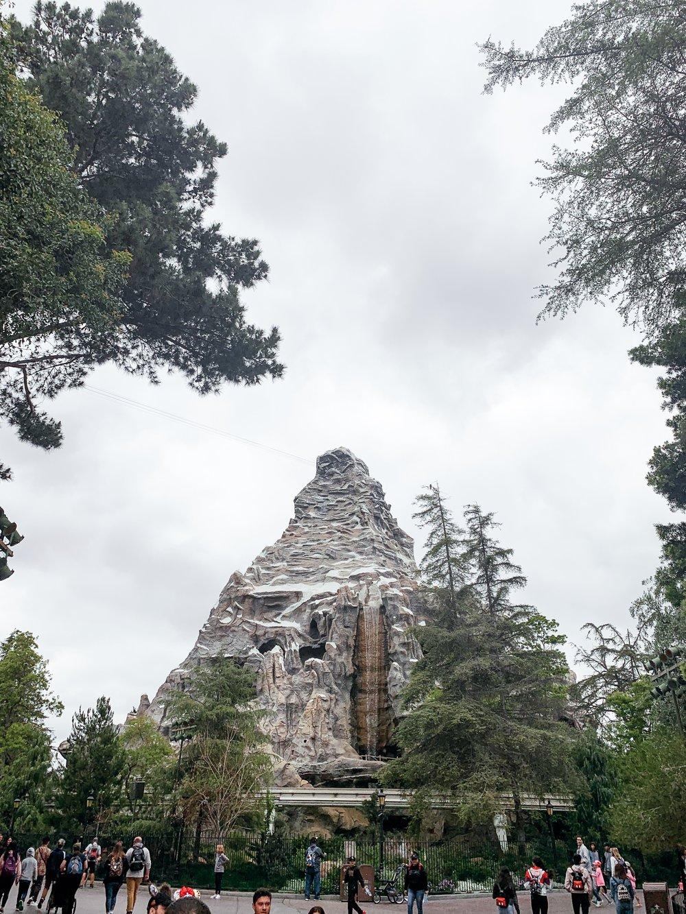 View of Matterhorn Bobsled ride.
