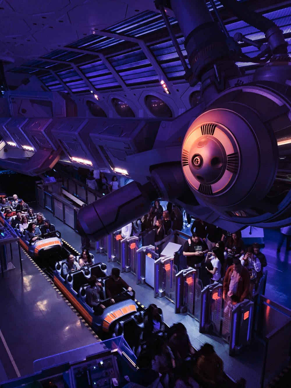 View from above - inside Space Mountain.
