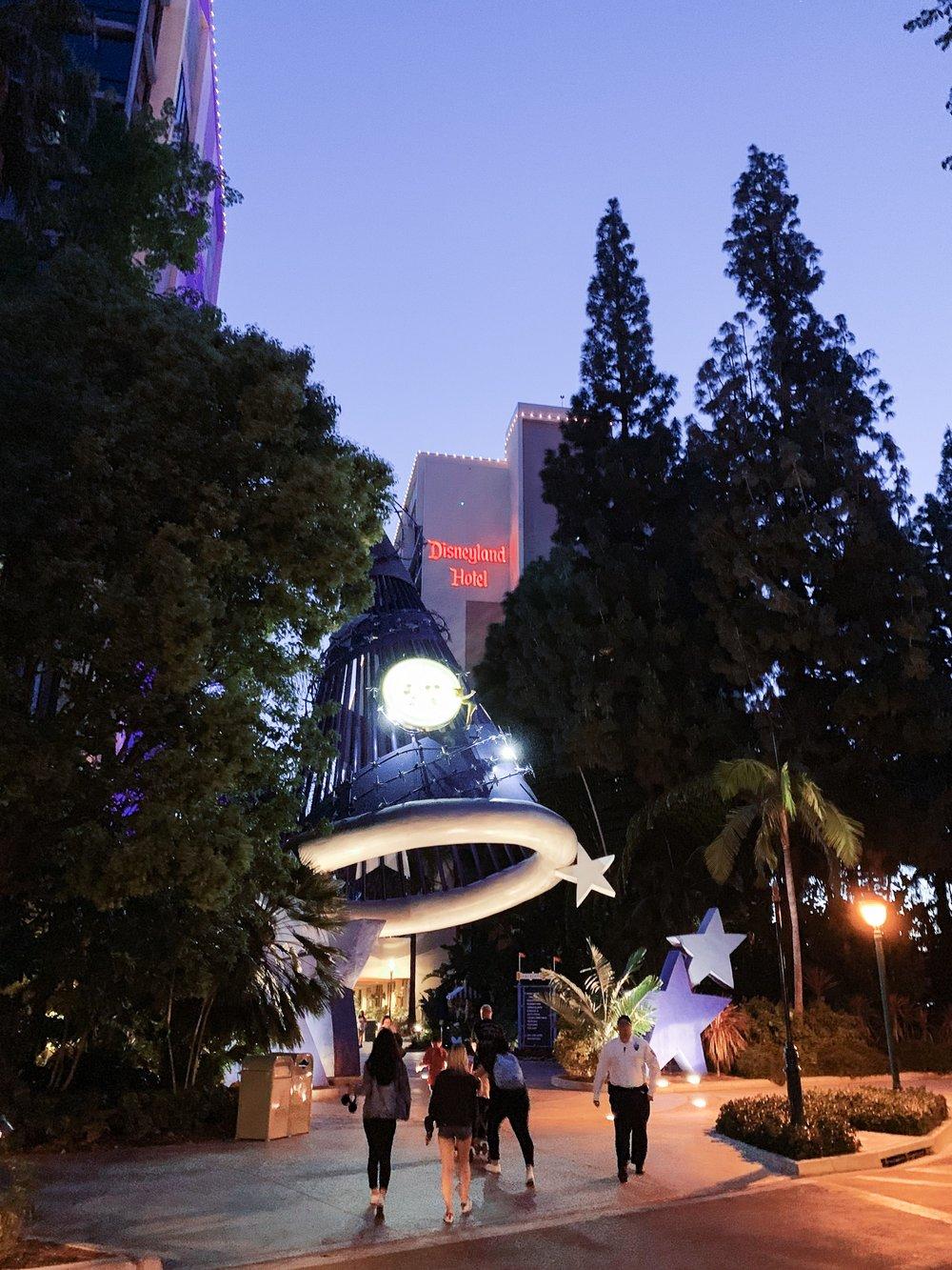 Outside of Disneyland Hotel