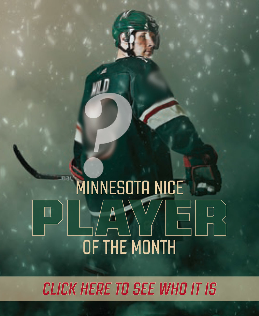 The first Minnesota Wild player will be announced in November!