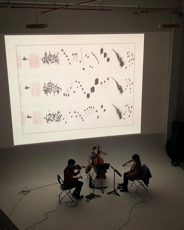 thank you to @futurespace.nyc for hosting us last week! what a special venue and evening✨ pictured performing a beautiful score by @leahgasher !