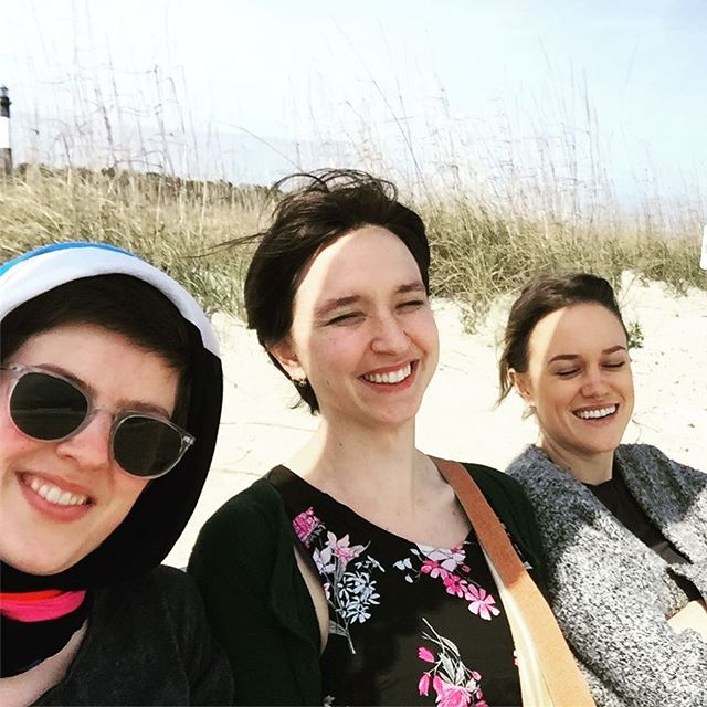 It was too sunny to open our eyes out on #tybeeisland! Thank you #liveoakconcerts and #gsu for a lovely time!