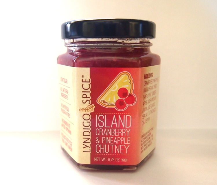 Holiday Featured Item!    Since I created this Cranberry & Pineapple Chutney we have yet to open another can of cranberry sauce.  My love for the Caribbean and Cape Cod is the inspiration for this chutney.  Made in small batches with fresh ginger, garlic, spices and New England Cranberries. There's only three grams of sugar per serving and its packed with flavor.  It pairs well with turkey, ham, sandwiches, cheese or in a sauce for those appetizer meatballs!