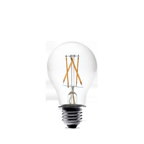 2W round filament bulb