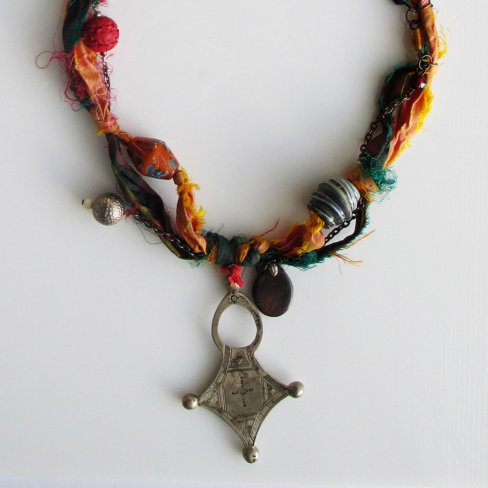 Red and Yellow Tibetan Necklace