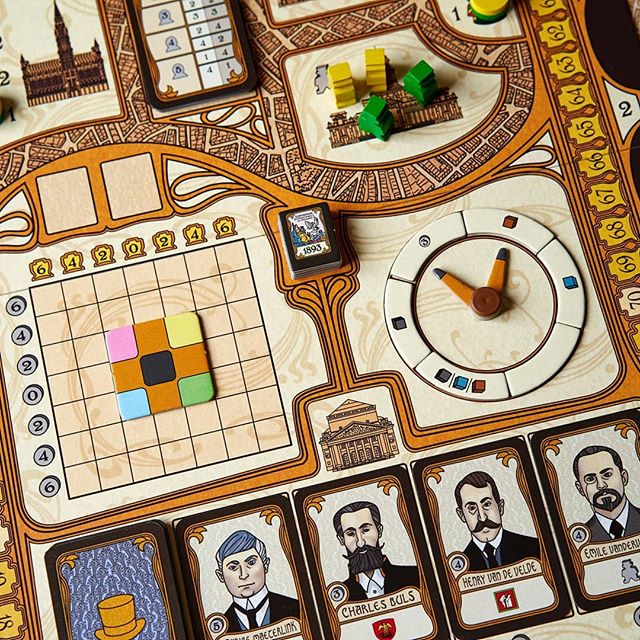 I am an artist and this is my workshop #bruxelles1893 #boardgames