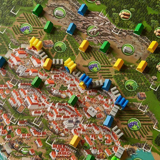 Walls, towers, and houses in the city of Ragusa #boardgames