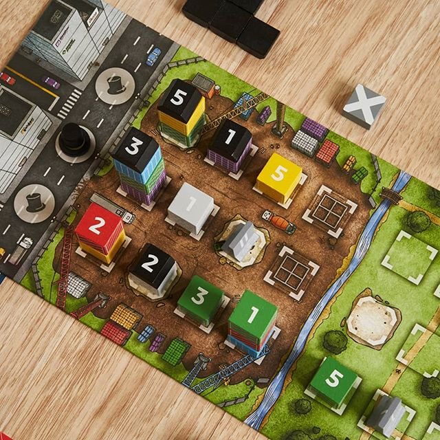 Building some luxury high-rises The Estates #boardgames
