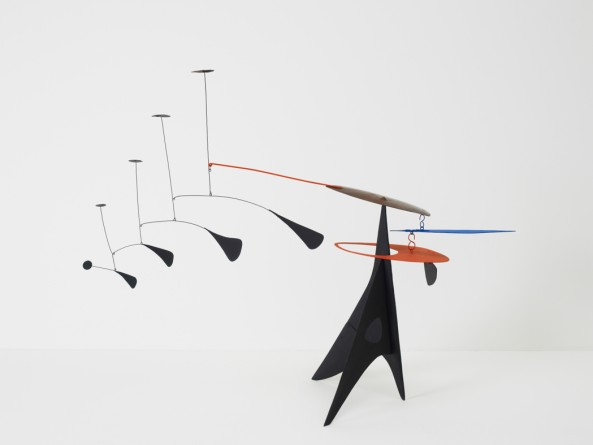 Blue Feather, c. 1948  Alexander Calder  Sheet metal, wire, and paint  42 x 55 x 18 inches  Calder Foundation, New York   © 2013 Calder Foundation, New York/Artists Rights Society (ARS), New York, photo: Calder Foundation, New York/Art Resource, NY