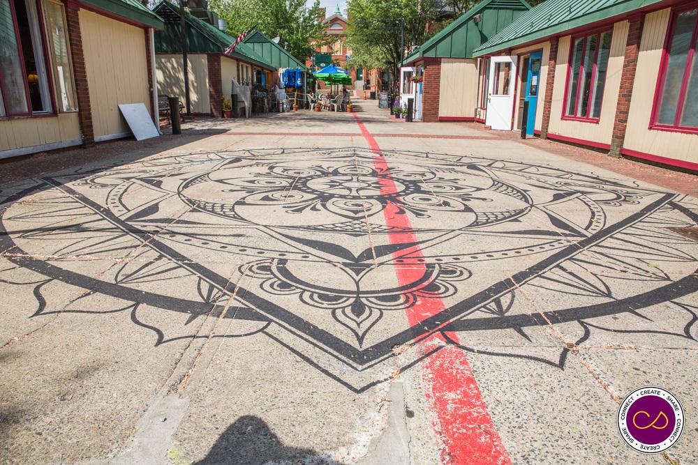 Part of the 2015 Public Art piece by Liz Lamanche - Salem's Connected World