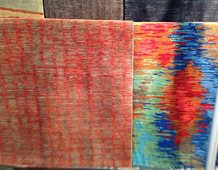 "Tufenkian Rugs. ""Billow"" and ""Borealis""."