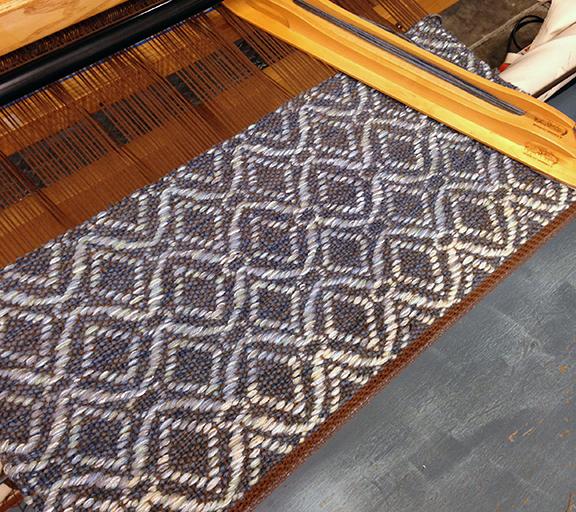 Adele pattern. Handwoven rug sample.