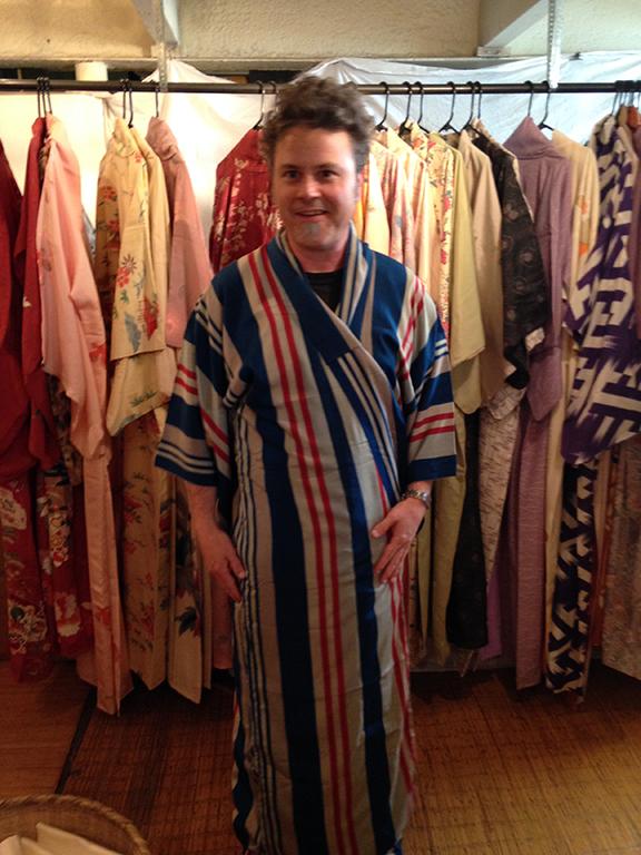 Styling a fabulous striped Kimono