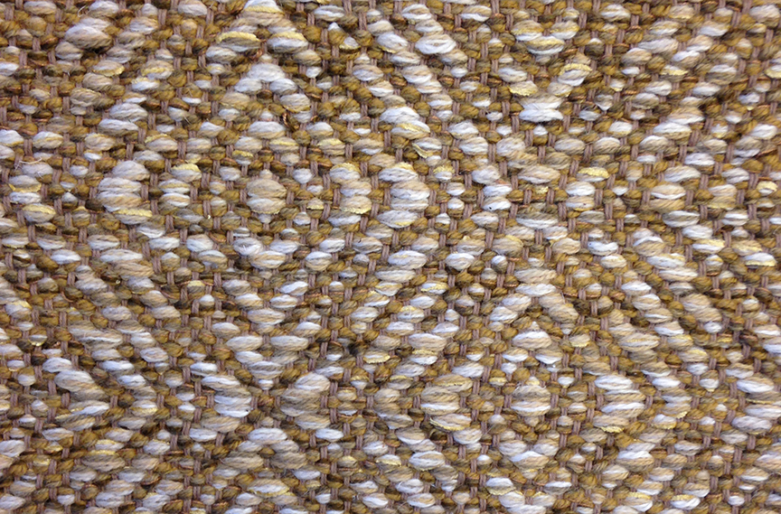Creswell Gold Deluxe flat weave rug