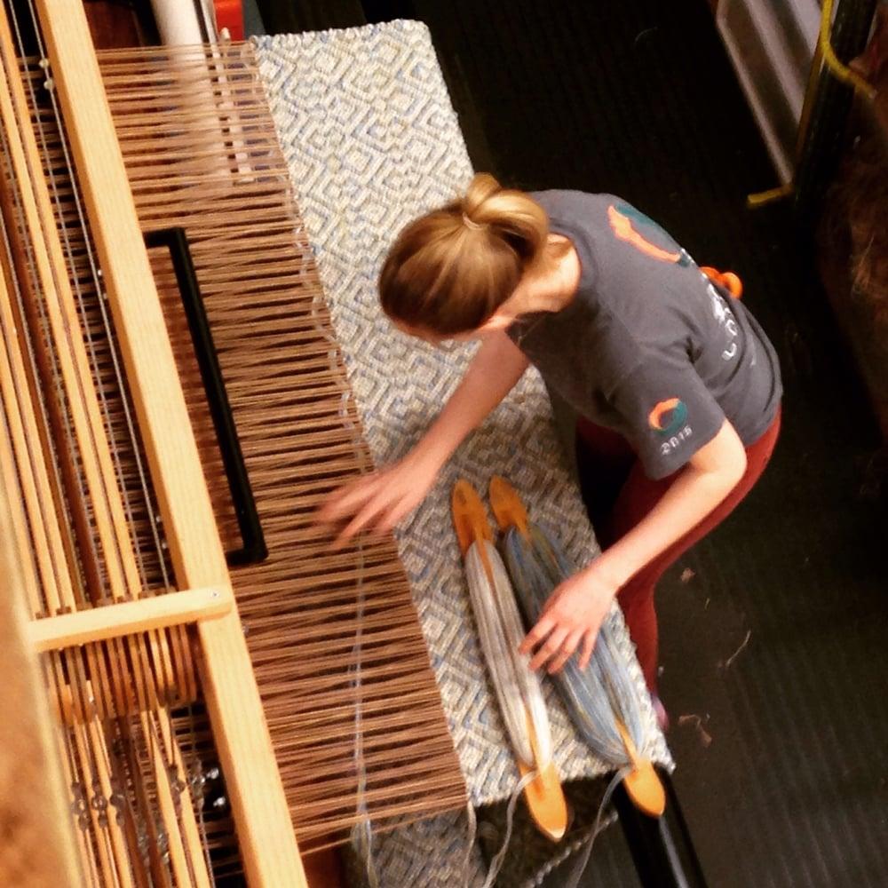 Kate weaving.