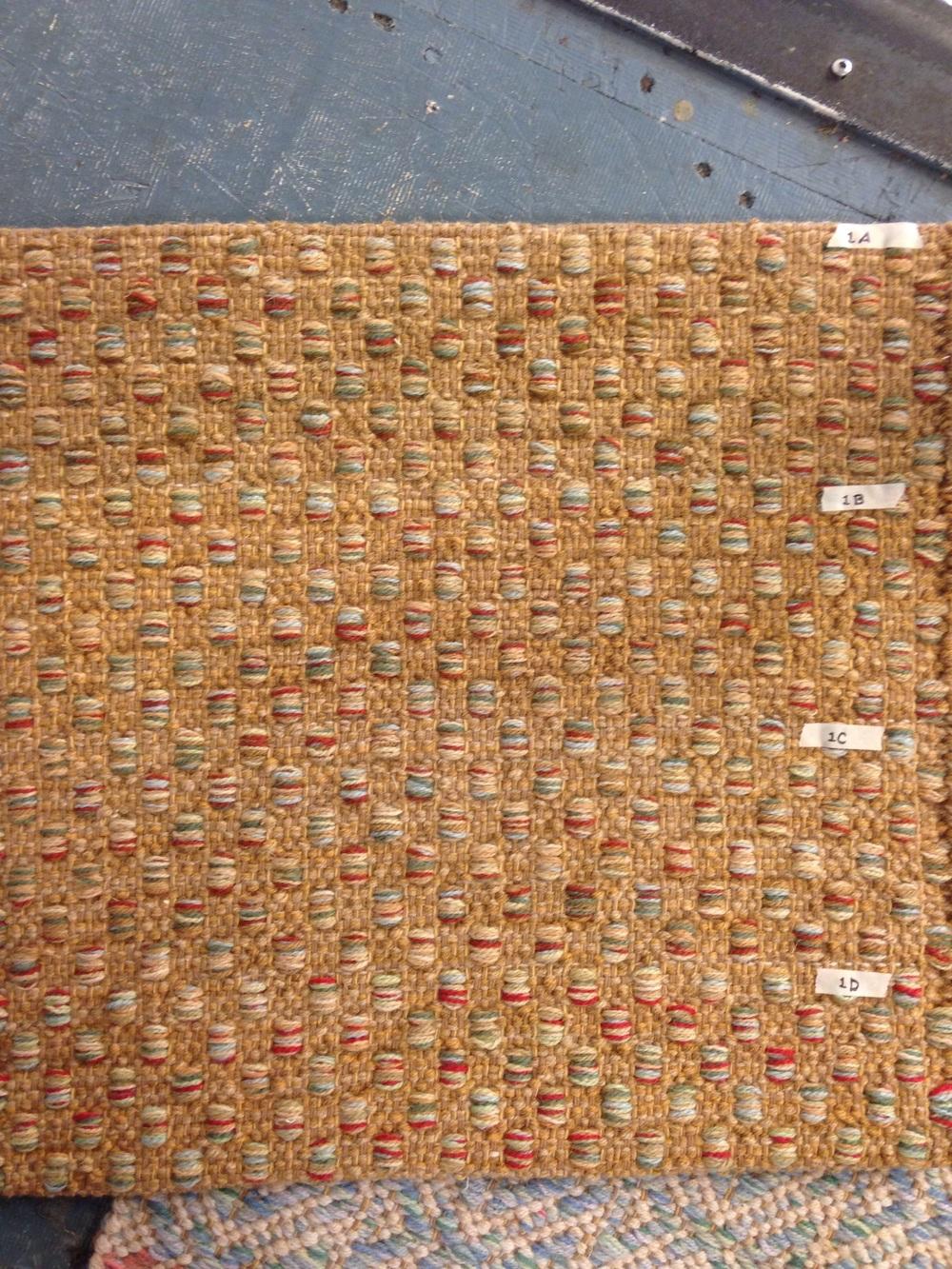 Mosaic handwoven rug