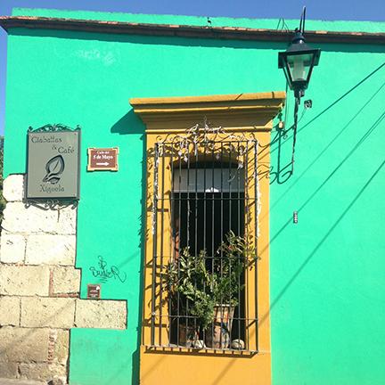 Cafe in Oaxaca.