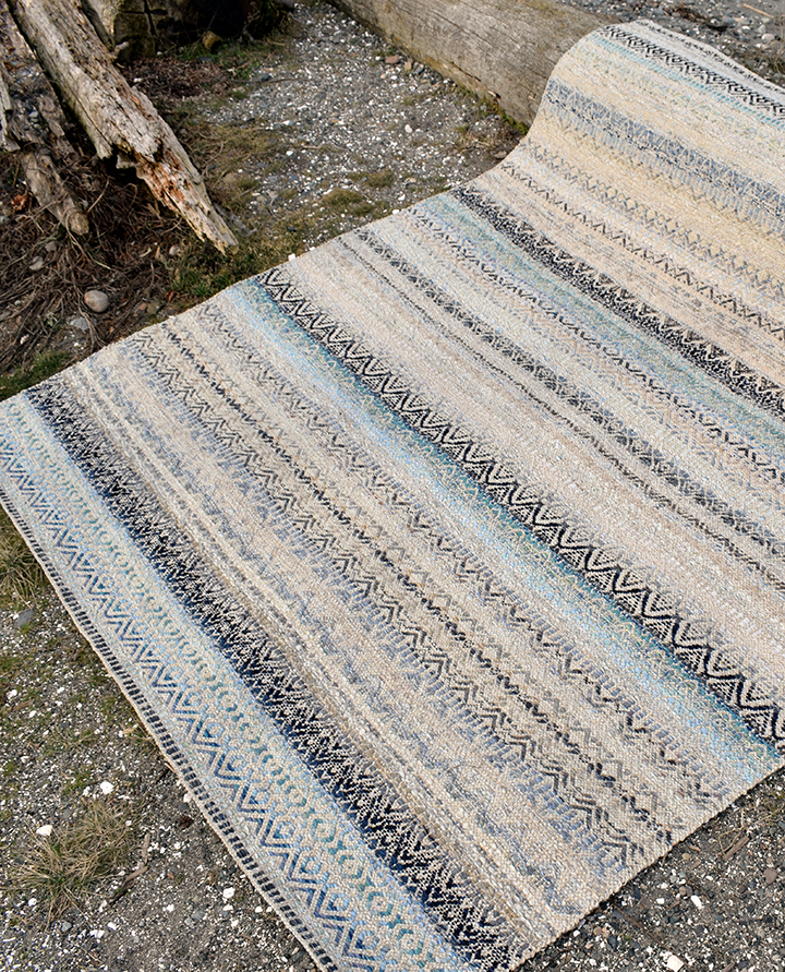 Multiweave rug at True North Texiles.