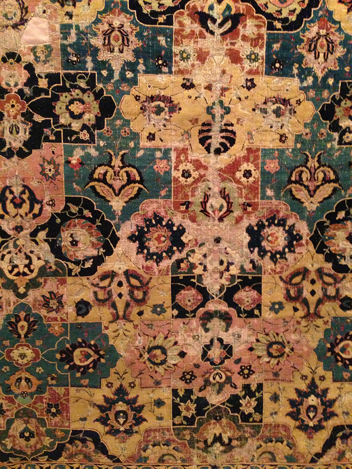 Carpet detail at the Met.