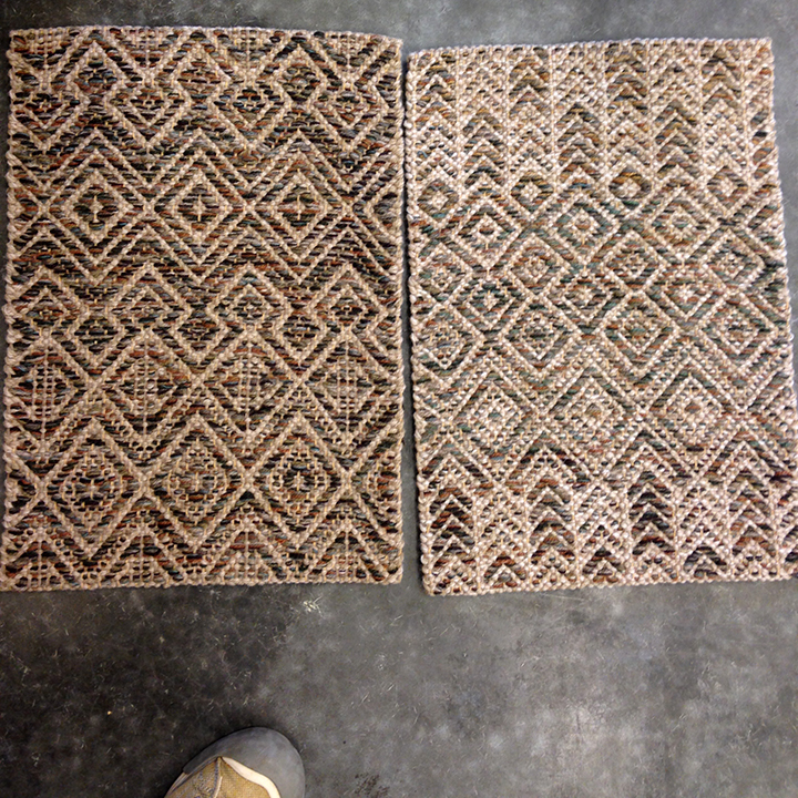 Southwestern style with mixed pattern.