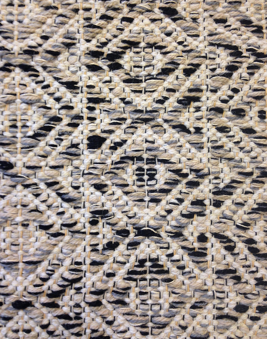 Marcus R Black & White Handwoven Rug