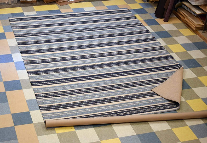 Navy Stripe 10' x 13'