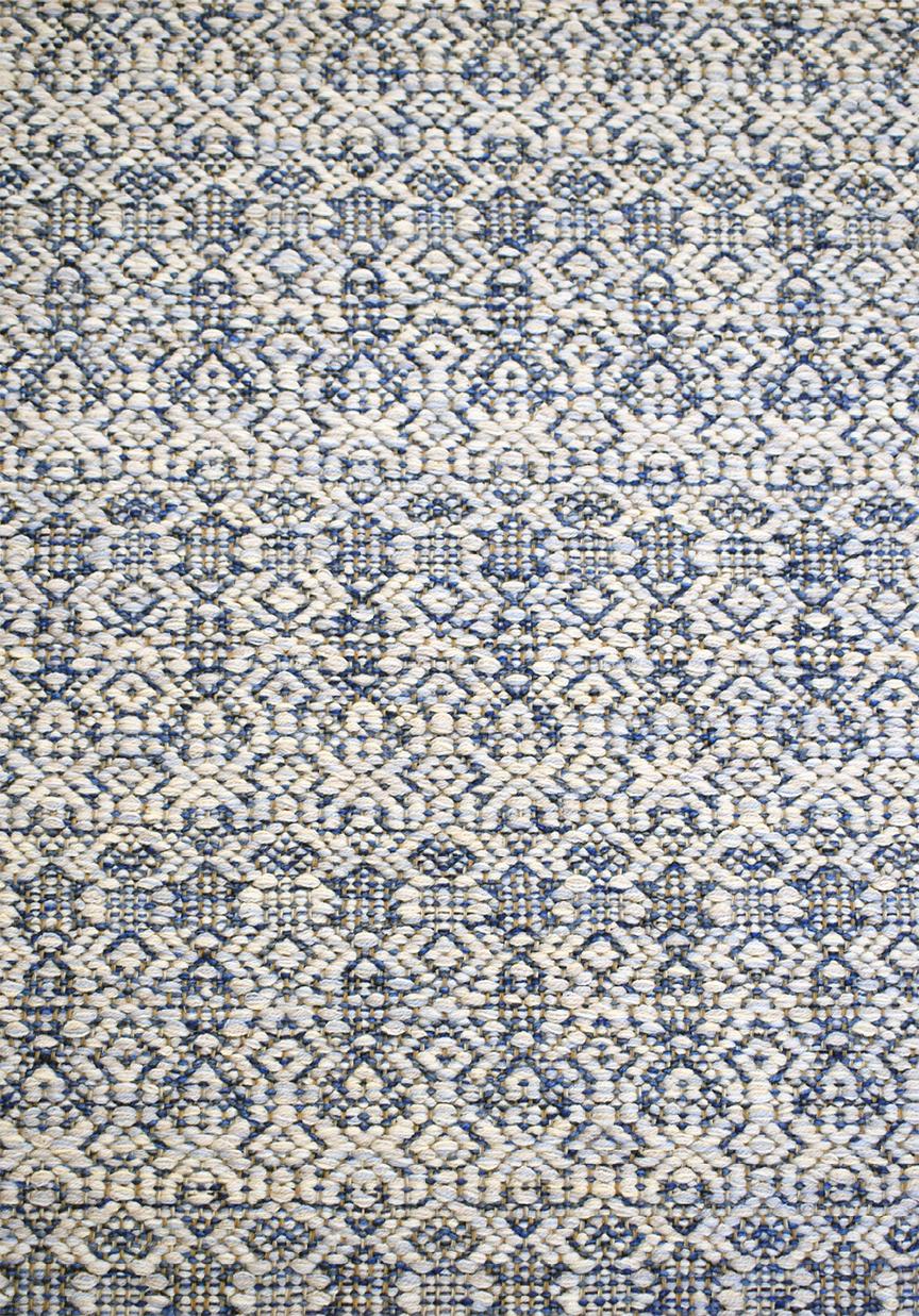 Zurich Azure Handwoven Rug - made in America