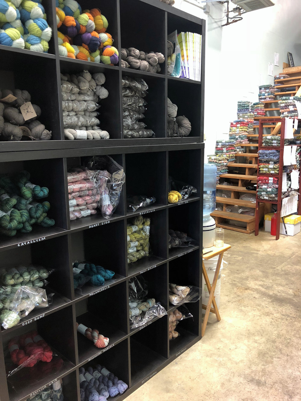 Yarn, yarn everywhere. At Spincycle Yarns.