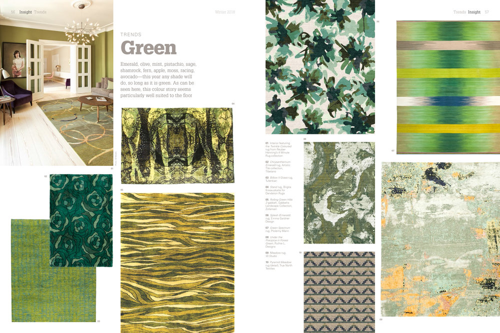 Green spread from  Cover