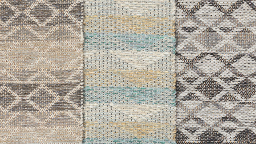 Madison Triangle Taupe, Ocean's Wake Turquoise and Bases