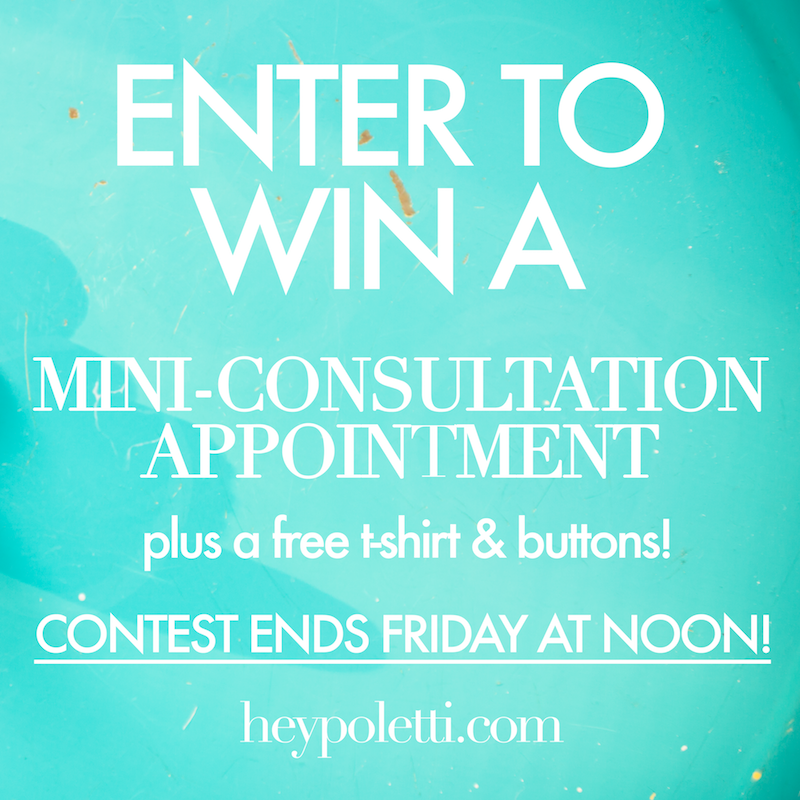 Enter the heypoletti! giveaway - Contest ends Friday at noon!