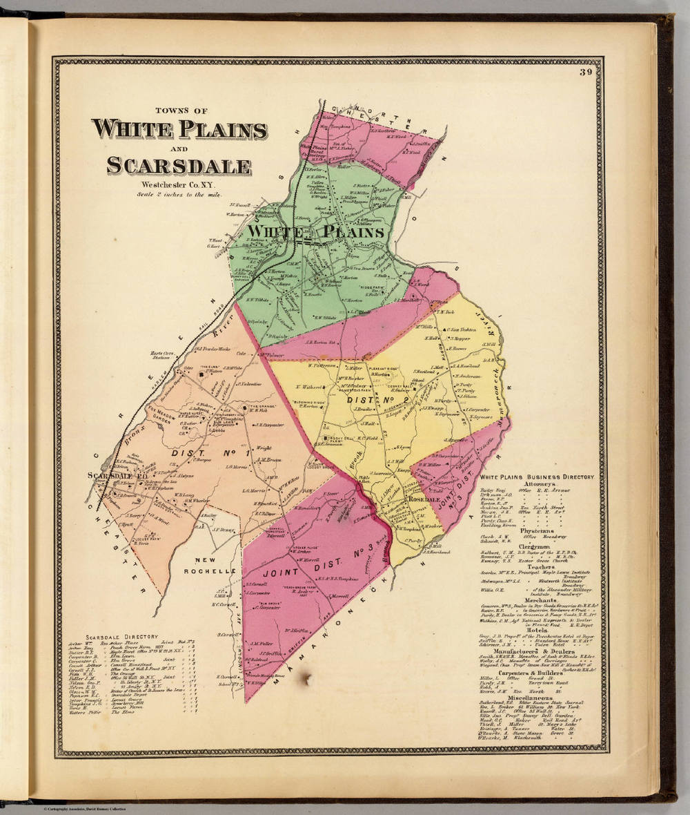Towns of White Plains and Scarsdale, 1868.
