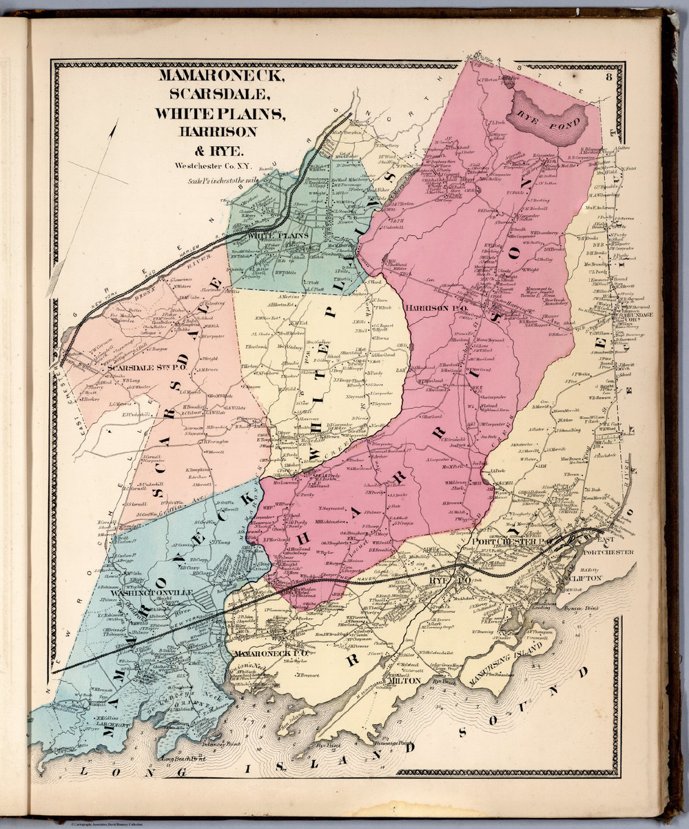 Mamaroneck, Scarsdale, White Plains, Harrison & Rye, 1867