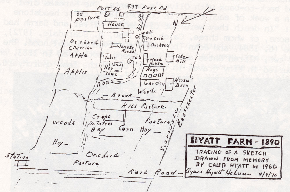 Caleb Hyatt remembers the farm of his childhood in 1890 when he was 10 years old.