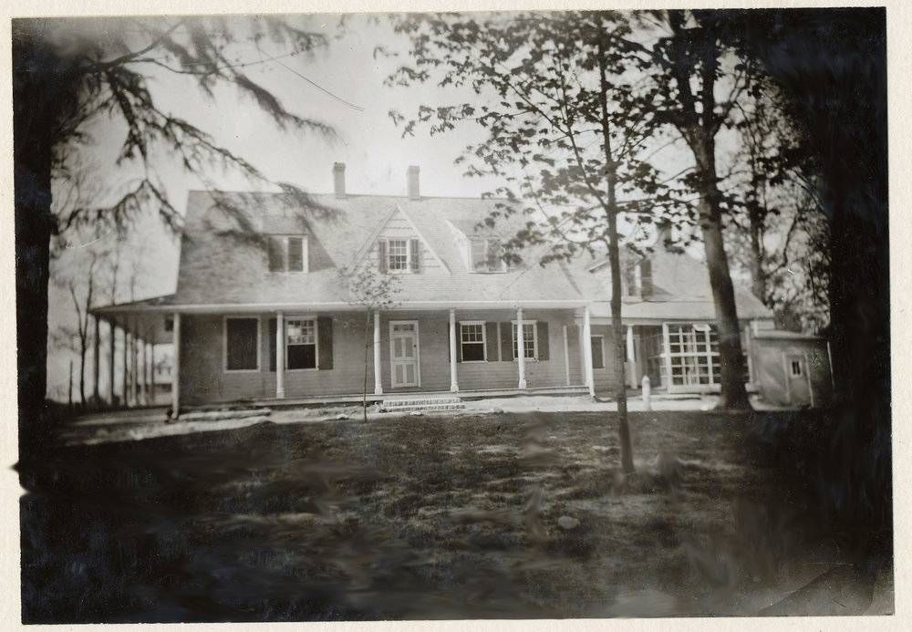 The Bates homestead, the original house was built circa 1732