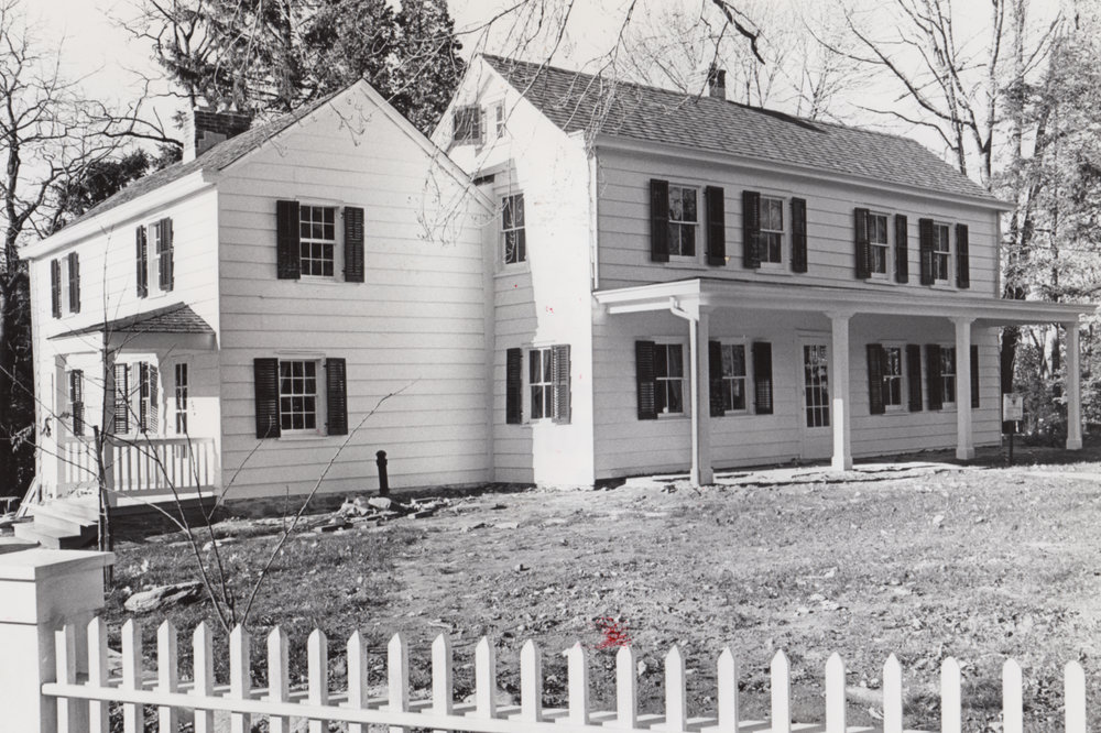 The house in 1977. The exterior restoration was completed in 1980.