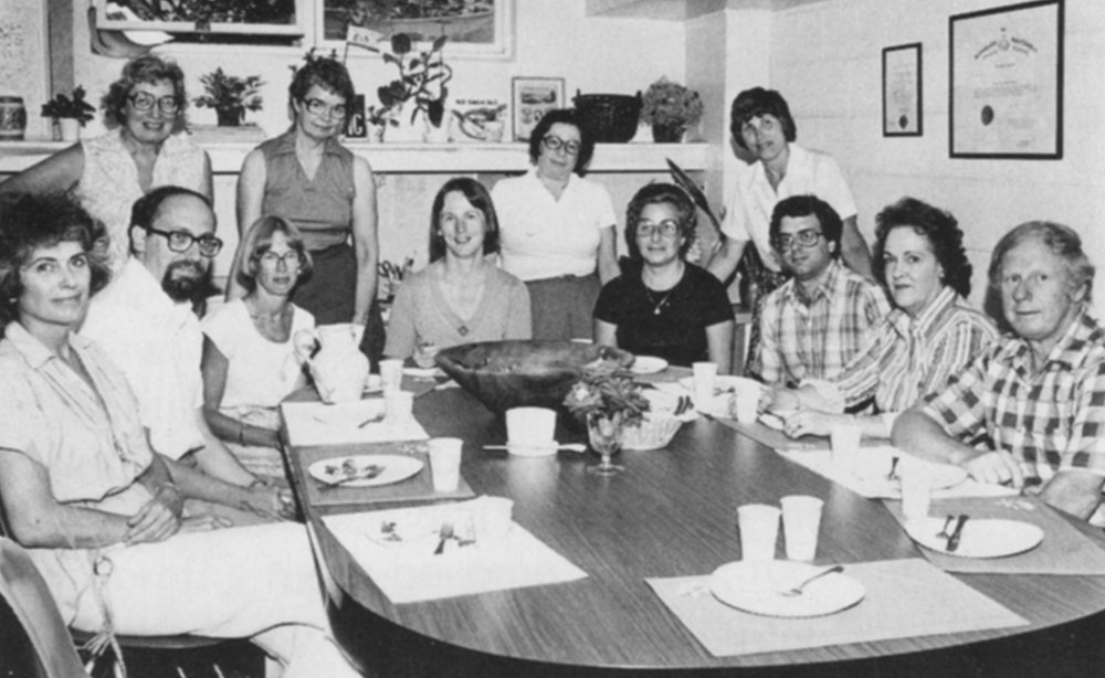 A meeting of consultants, educators and trustees of the Society in 1976.