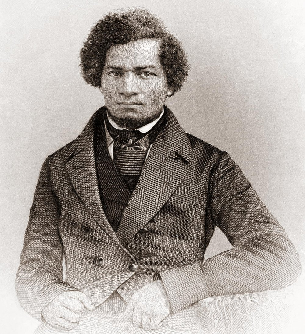 Portrait of Frederick Douglass from his book  My Bondage and My Freedom.  Engraved by J.C. Buttre from a daguerretotype.