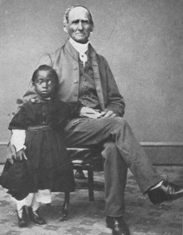 Joseph Carpenter, Quaker abolitionist from Scarsdale, with an orphaned child.