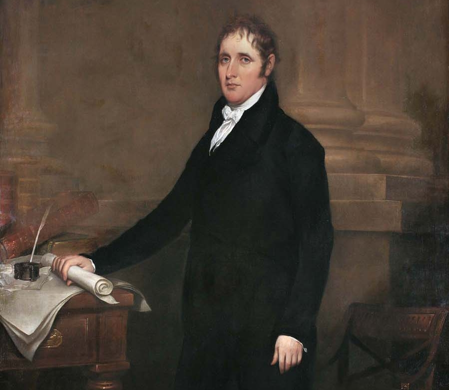 Governor Daniel D. Tompkins, originally from Scarsdale, was instrumental in enacting the 1817 manumission legislation to finally end slavery by 1827. (Detail of an 1808 portrait by John Trumbull.)