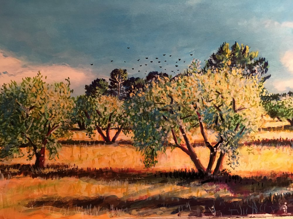 """Olive tree's and crow""""s"""
