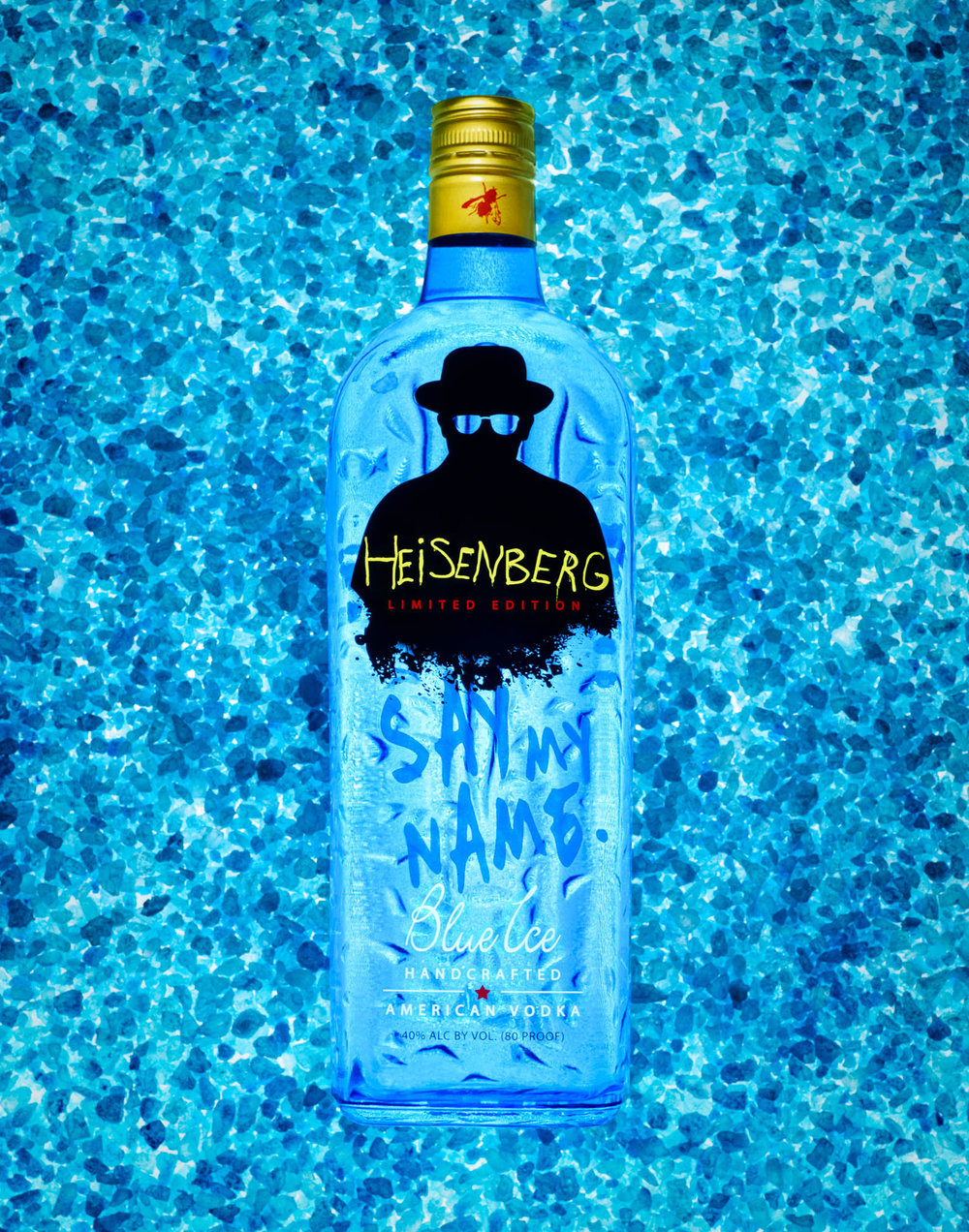 The 2017 winning image in the commercial category at the Photoshop World Guru Awards - Breaking Bad Vodka