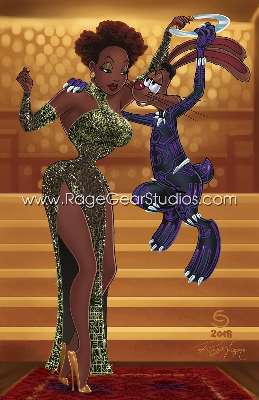 Nakia and Black Panther