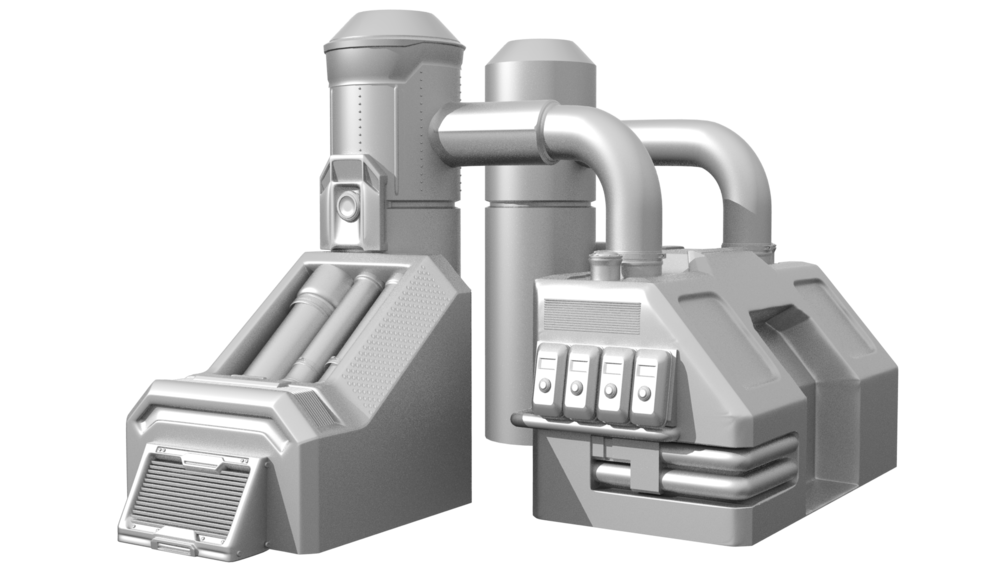 Chemical Unit 02 highpoly render