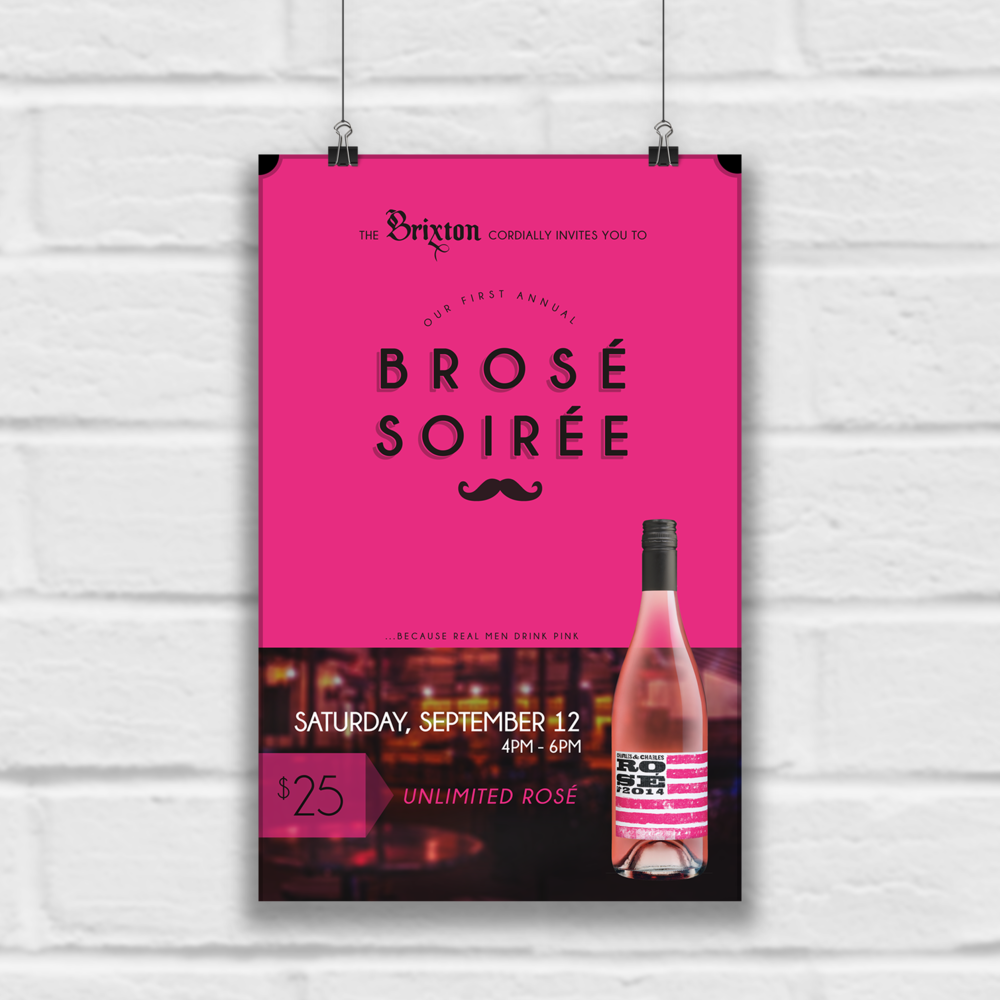The Brixton's Brose Soiree event poster design