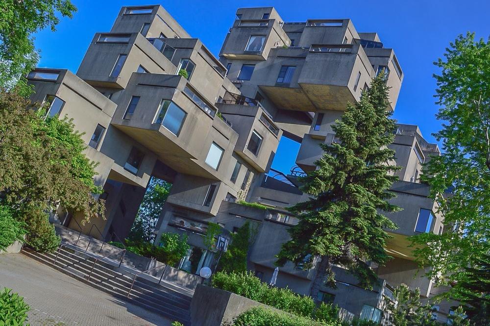 Moshe Safdie's iconic Habitat 67.